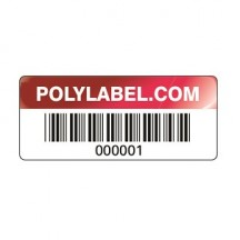 asset tag red metallic for product