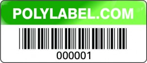 asset tag green metallic