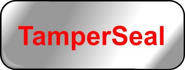tamper seal silver